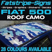 FIAT 500 ROOF Camo grafica Adesivi Strisce Decalcomanie Mimetica ABARTH 1.2 1.4