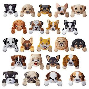 Dog Breeds Iron Sew / Iron on Appliques Embroidered Patches Motif Craft Bulldog