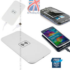 UK Qi Wireless White Power Pad Charger Only for Samsung Galaxy S5 S4 S3 Note 3 4
