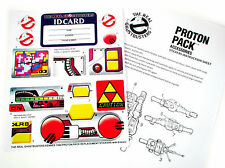 THE REAL GHOSTBUSTERS REPLACEMENT STICKERS for 1984 PROTON PACK & PKE METER + ID