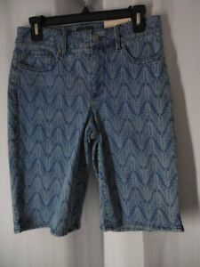 NOT YOUR DAUGHTERS JEANS NYDJ Shorts Briella stretch denim size 4 blue NWT