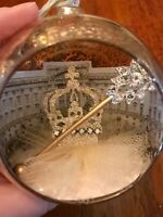 Crown Gilded Life Christmas Ornament Vintage Winter Mercury Glass Rhinestone