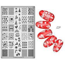 Nail Art Stamping Plates Image Plate CHRISTMAS Candy Cane Santa Snowflakes XY02