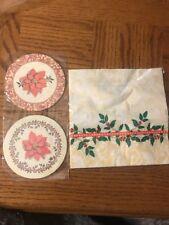 Christmas Napkins And Coasters New