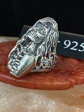 Silver Skelenton Girl Ring