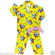 GIGGLE AND HOOT kids boys girls Flannel Pyjama winter pjs Jimmy giggle size1-4
