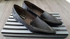 GF FERRE Damen Edel Schuhe loafer gr. 37 1/2 schwarz leder Nagelneu