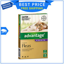 ADVANTAGE for Cats Over 4 Kg PURPLE Pack 6 Pipettes