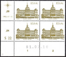 More details for south africa 1982-7 4c brown-olive, 81.07.10 date error cyl a block, sg.514, um