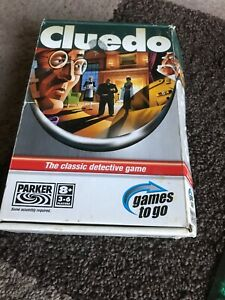 BRAND NEW! Cluedo - Games to go Travel Game Never Used Box Has Some Wear