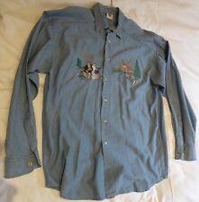 Trachten Herrenhemd Baumwolle Farbe blau Stickerei, Gr.42 von Amann