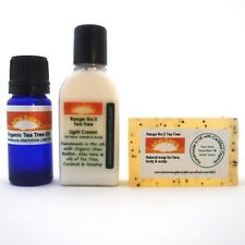 OILY SKIN, ACNE & PIMPLE removal - Soap, Cream & Oil Organic Remedy Sample Pack