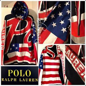 NWT $228 Polo Ralph Lauren XXL Big Bubble Americana Stadium Hoodie Double Knit