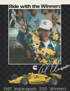 1987 Al Unser, Sr. Cummins Cosworth March Indy 500 Winner Indy Car Hero Card