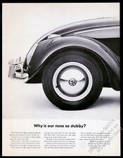 1963 VW Beetle classic car photo Why Is Our Nose So Stubby? Volkswagen 13x10 ad