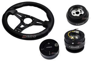 NRG 320 Sniper Steering Wheel BK Carbon Spoke/170 Hub/2.0 BK Release/Lock Matt a