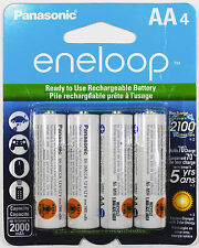 PANASONIC Eneloop NiMH Rechargeable AA Battery 4 Pack - Made in Japan