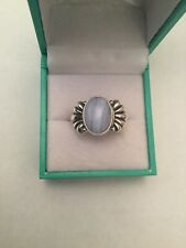Hallmarked 925 Carolyn pollack blue lace agate Solitaire Bow Ring Size: K