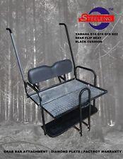 Rear Flip seat kit for YAMAHA golf cart G14/G16/G19/G22 (Black) w/ Grab Bar