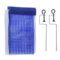 Portable Table Tennis Net Post Clamp Stand Holder Set Pong Replacement Mesh~jU_X