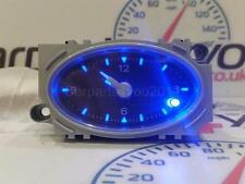 FORD MONDEO MK3 01-07 BLACK FACED BLUE LED ANALOGUE TIME CLOCK + FREE UK POST