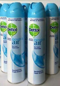 5X300ml DETTOL Neutra Air Freshener Fresh Breeze Kills 99.9% of Bacteria