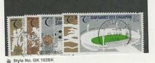 Singapore, Postage Stamp, #183-185, 187-188c Used, 1973 Sports