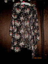 WOMENS Beach Bathing Suit Cover-up WOMENS SIZED PLUS  2X  MULTI-COLORED FLORAL
