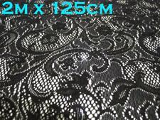 2 meter Black 4 way Stretch Lace Fabric Vintage Sewing Soft Tulle Mesh Dress