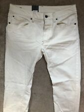 """G-STAR RAW INZA WHITE STRETCH """"3301 SLIM STRAIGHT"""" FIT JEANS  32"""" x 34"""" NEW TAGS"""