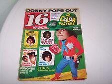 16 Magazine March 1972 David Donny Osmonds Jackson 5 Bradys Wes Knight