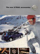 Nissan X-Trail Accessories 2001-02 UK Market Sales Brochure