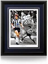 Peter Beardsley 16x12 mano firmato Newcastle United Montage AFTAL prova fotografica COA