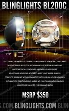 2 x Jeep Wrangler JK Front Bumper Lights Bar Fog Driving Lamps Black Crome Round