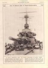 1917 French Super-dreadnought Twin-gun Turrets Maghdaba Anzacs Turkish Prisoners
