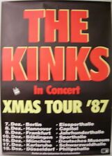 THE KINKS CONCERT TOUR POSTER 1987 THE ROAD