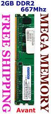 Avant 2GB DDR2 PC2-5300 667MHz Desktop Memory SAVE