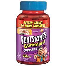 FLINTSTONES Complete Childrens Gummies Multivitamin 250 ct Gummy vitamin supplem