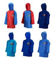 Official Kids Novelty TV Characters Boys Hooded Raincoat Rain Proof Coat Jackets
