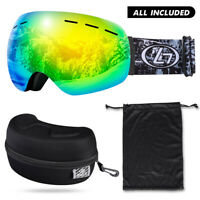 US Women Men Anti-Fog Wind Dust UV Surfing Jet Ski Snowboard Goggles Sunglass