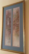 Lena Liu Framed and Double Matted Pair Of Signed 2x, Numbered