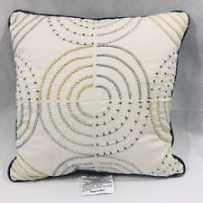 Room Essentials Yellow Medallion Toss Pillow Natural Bedroom Living Room New