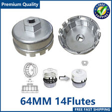 64mm Oil Filter Wrench Cap 14 Flute Tool For Toyota Lexus Scion 2.5L-5.7L Engine