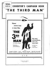 THE 3RD MAN pressbook, Orson Welles, Joseph Cotton, Trevor Howard