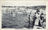 Fair Haven NY Bathers at State Park Postcard