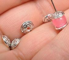 100pcs Tibetan silver Antique Design Flower Design Bead Caps Findings 7mm JA3553