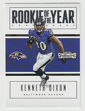 KENNETH DIXON 2016 Panini Contenders Rookie of the Year Contender #4 Ravens
