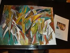 """Original Mixed Media Painting """"Abstract Animal Forms"""" by E.A. Babb 1999"""
