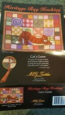 Heritage Rug Hooking- Cat's Game-Mcg Textiles Linen Burlap Ragwork New open box