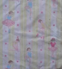 Vintage Laura Ashley Ballerina Dancers Stripped Craft Fabric Remnant 72 x 45 cm